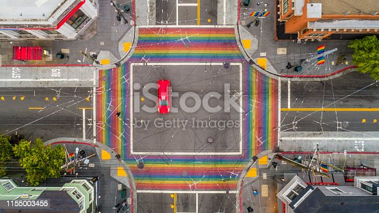 High quality stock aerial photos of the Castro District in San Francisco, California