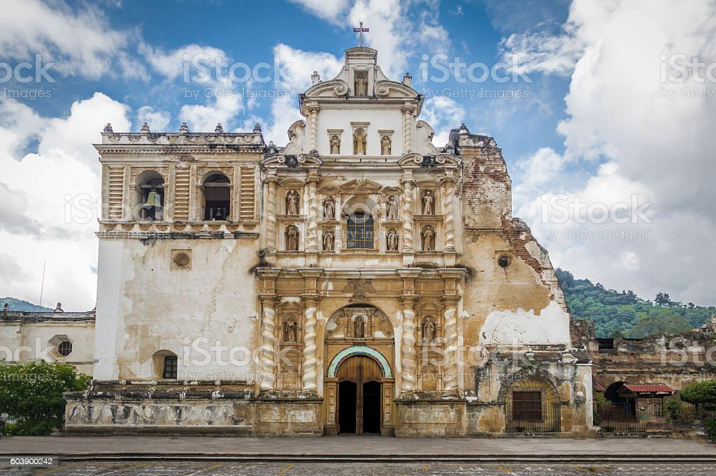 San Francisco Church -  Antigua, Guatemala stock photo
