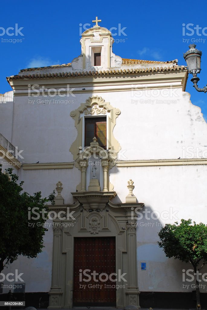 San Francisco church in Cadiz, Spain royalty-free stock photo