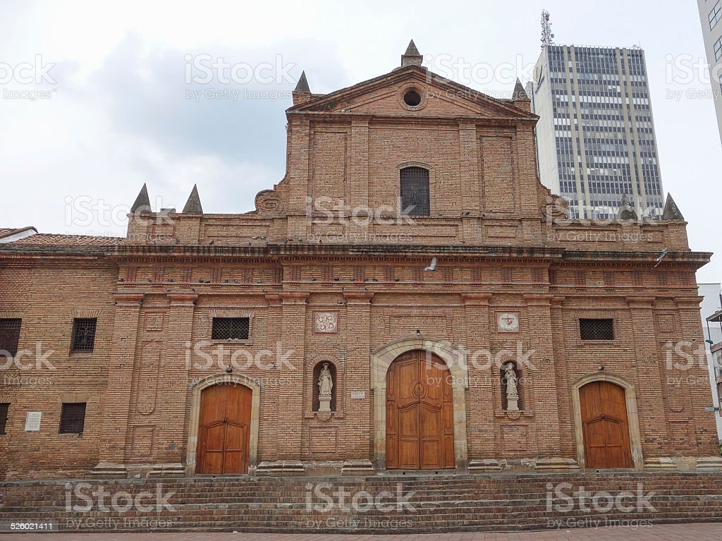 San Francisco church in Cali stock photo