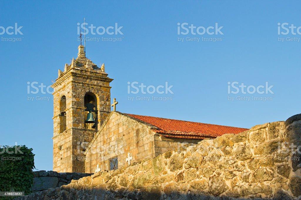San Francisco church on Cambados royalty-free stock photo
