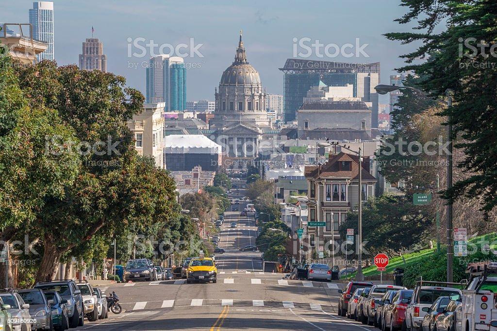 San Francisco City Hall and Street View stock photo