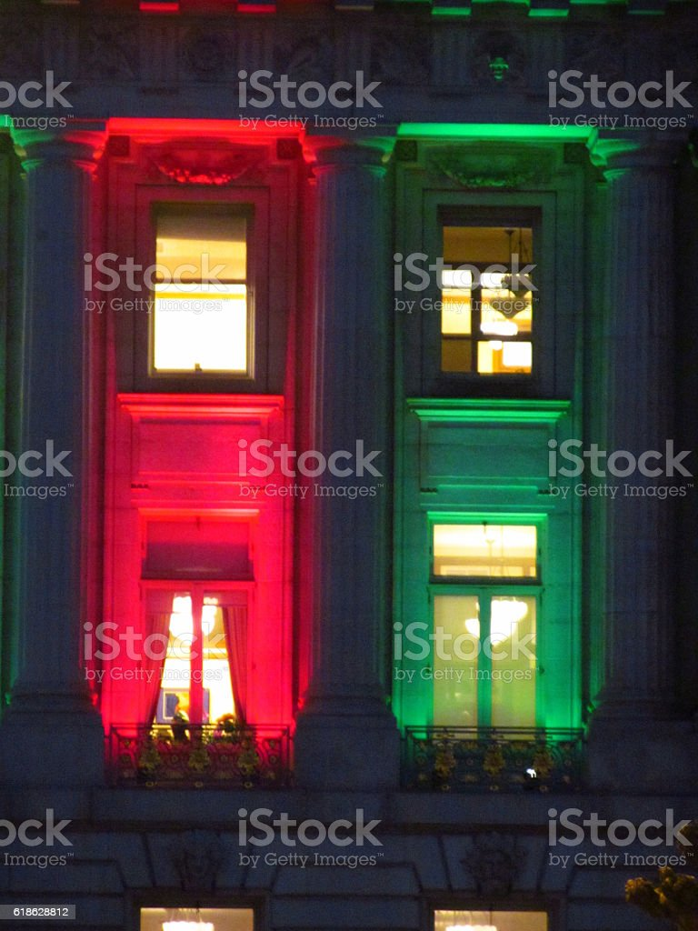San Francisco City Hall At Christmas stock photo