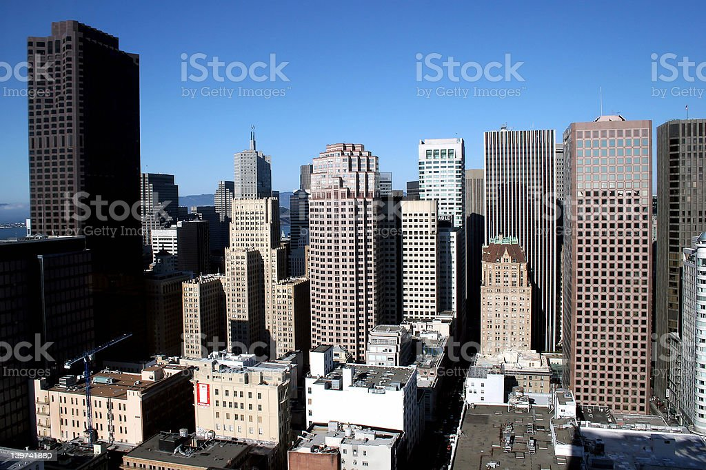 San Francisco city skyline royalty-free stock photo