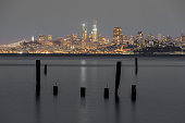Panoramic view of San Francisco as seen from Sausalito in Marin County, California