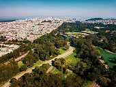 San Francisco cityscape aerial view from the park
