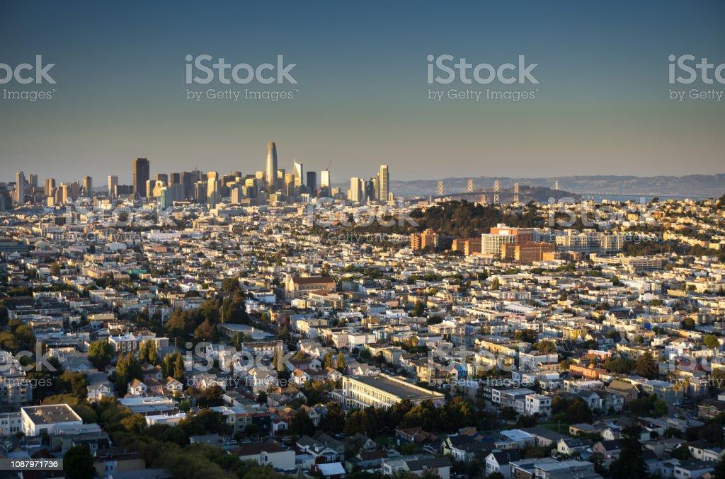 San Francisco Cityscape - Evening stock photo