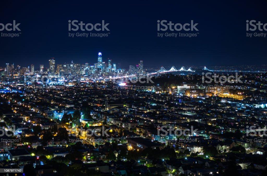 San Francisco Cityscape - Night stock photo