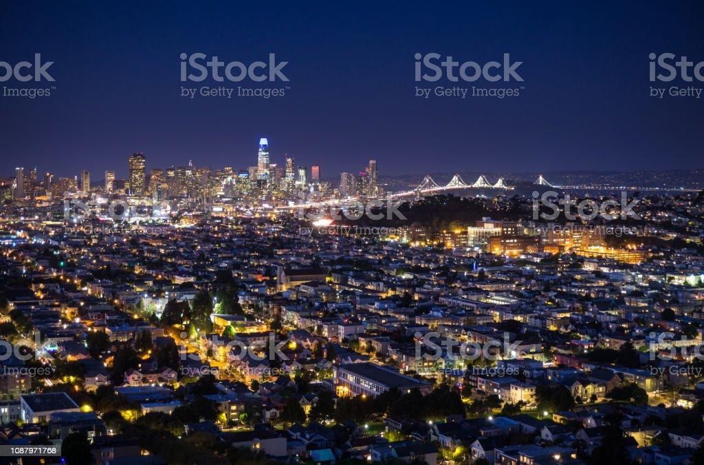 San Francisco Cityscape - Nightfall stock photo