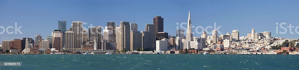 San Francisco cityscape panorama royalty-free stock photo