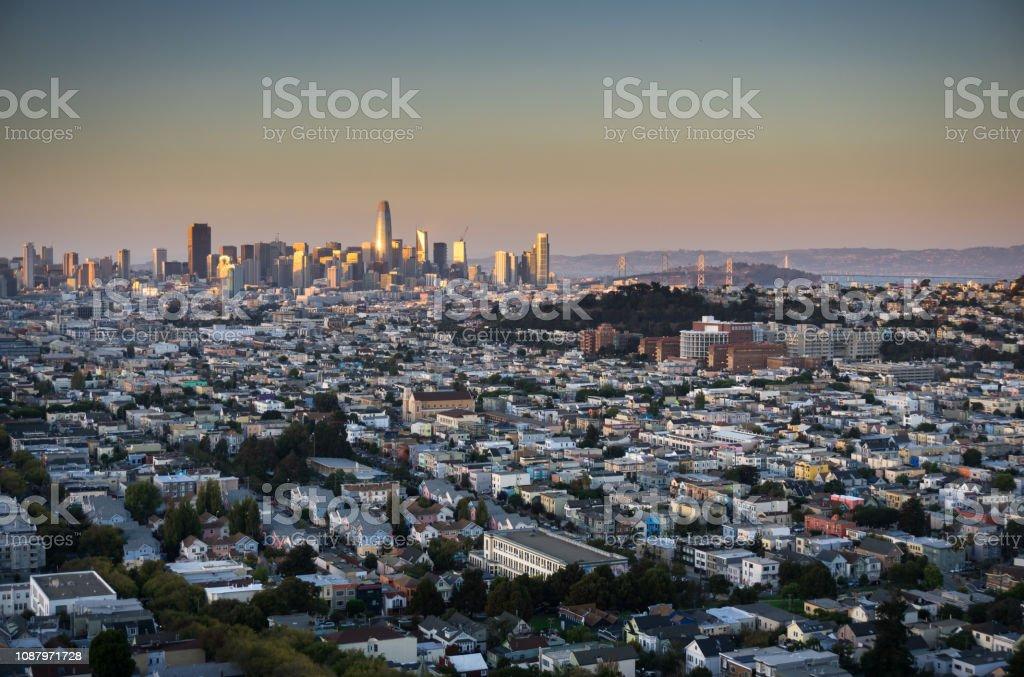 San Francisco Cityscape - Sunset stock photo
