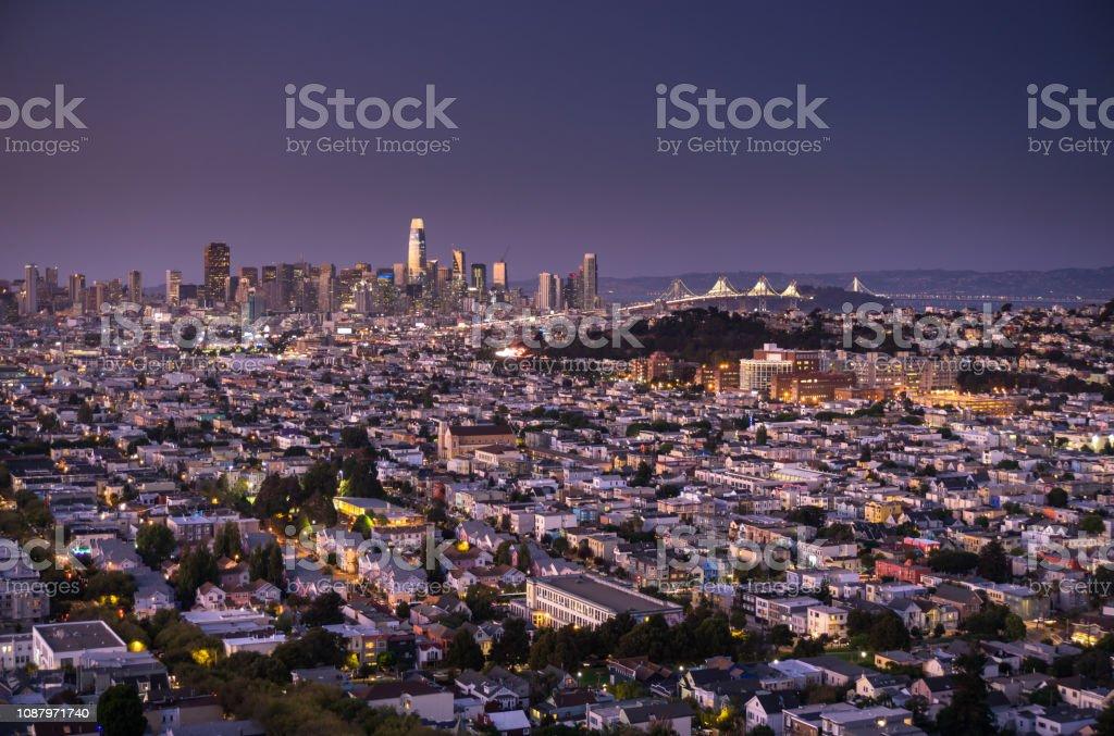 San Francisco Cityscape - Twilight stock photo