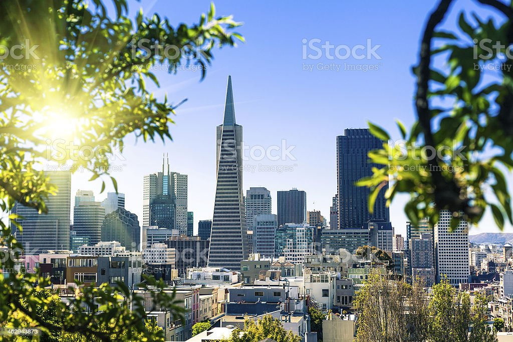 San Francisco Cityscape with Transamerica Pyramid, California stock photo