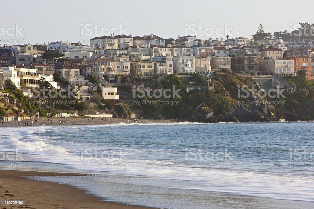 San Francisco Coastal Neighborhood stock photo