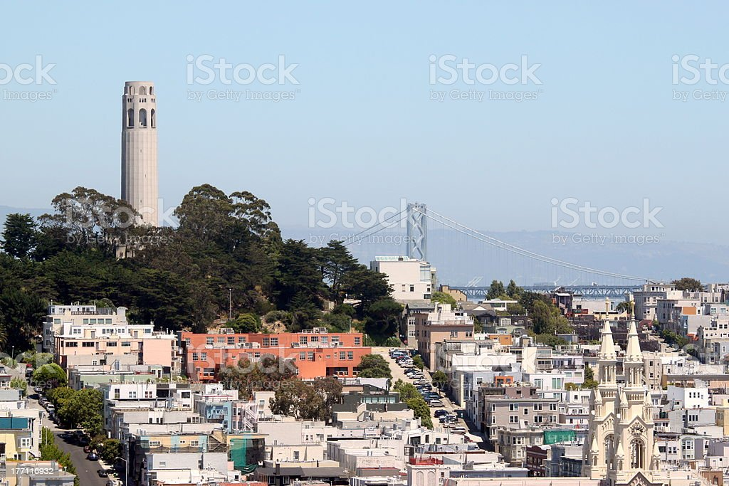 San Francisco Coit Tower stock photo