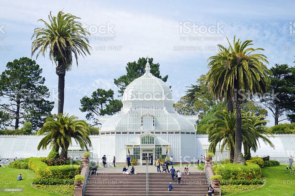 San Francisco Conservatory of Flowers in Golden Gate Park stock photo