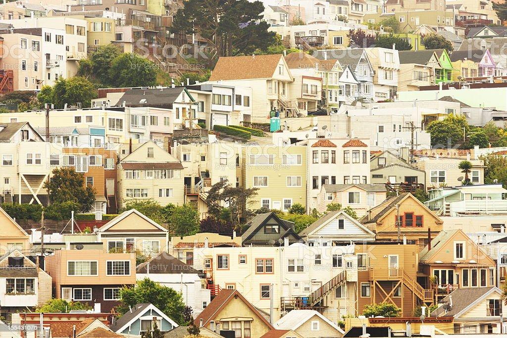 San Francisco Daly City Neighborhood Suburb stock photo