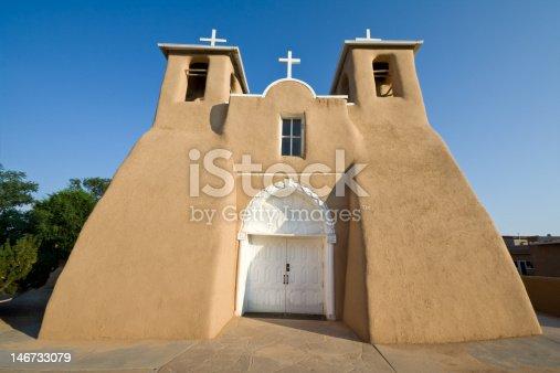 San Francisco de Asis mission church, Ranchos Taos, adobe walls - See lightbox for more