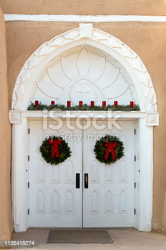 San Francisco de Asis Mission Church Entrance, Taos, New Mexico