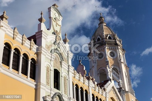 San Francisco De Asis Cathedral, a Roman Catholic Church built by Franciscans in Casco Viejo old Town, Panama City and dedicated to Saint Francis of Assisi
