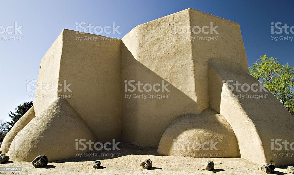 San Francisco de Assisi Mission Church in Taos, New Mexico stock photo