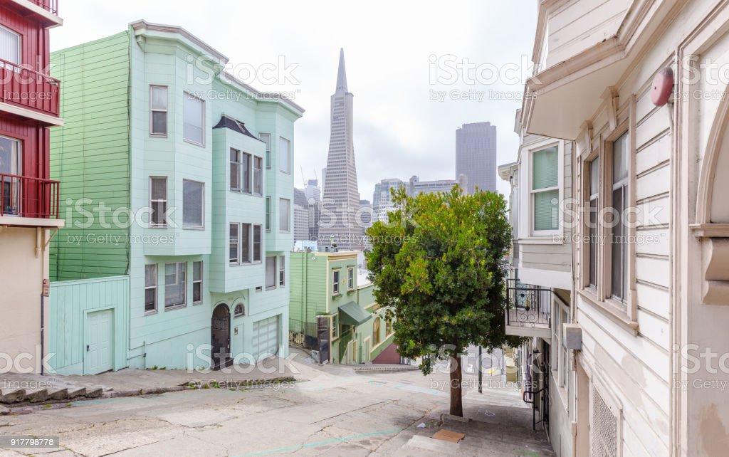 San Francisco Downtown, California, USA stock photo