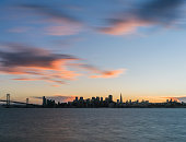 San Francisco downtown cityscape during sunset,california.