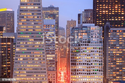 Financial District of San Francisco  as seen from Telegraph Hill Historic District.