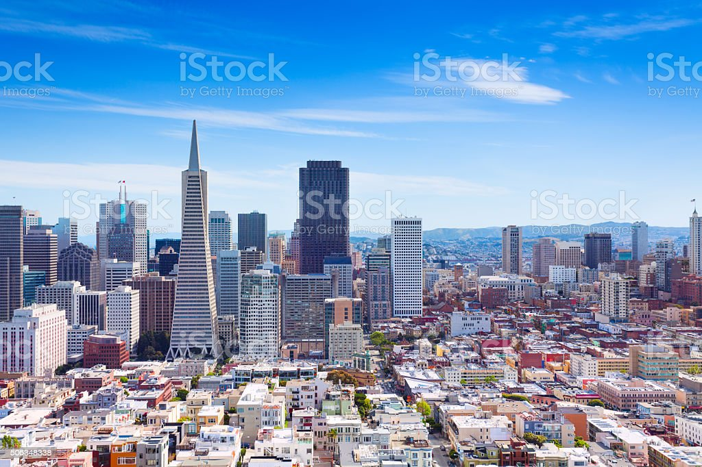 San Francisco downtown general view stock photo