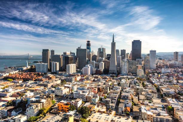 El centro de la ciudad de San Francisco - foto de stock
