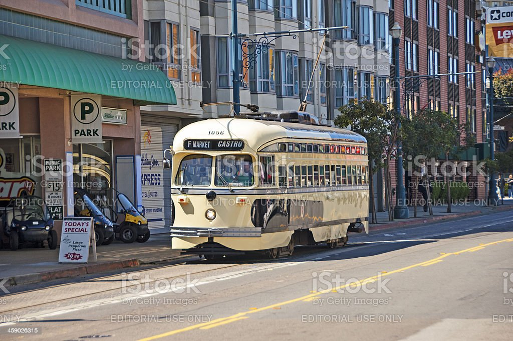 San Francisco Electric Street Car royalty-free stock photo