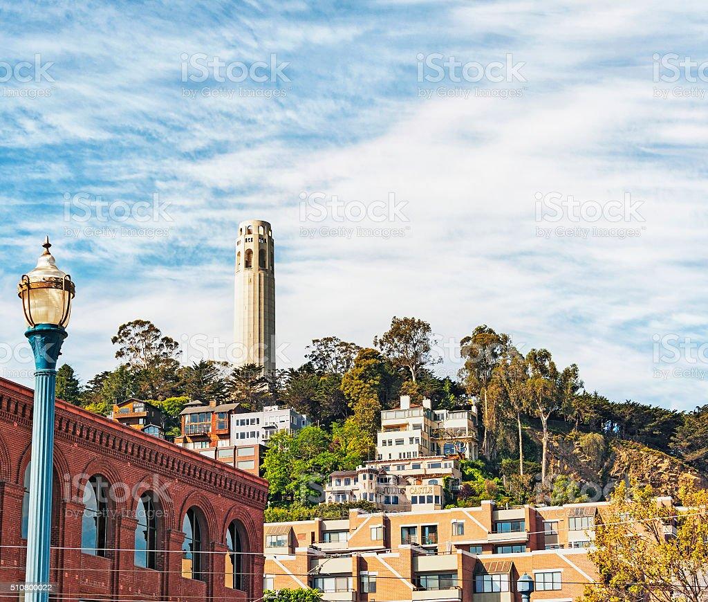 San Francisco Famed Landmark Coit Tower stock photo