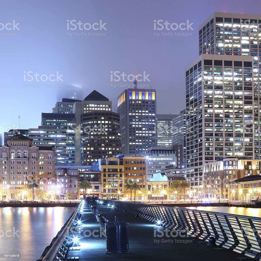 San Francisco: Ferry Building and Downtown royalty-free stock photo
