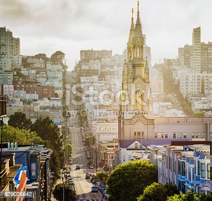 istock San Francisco Filbert street Saints Peter and Paul cathedral 629026642