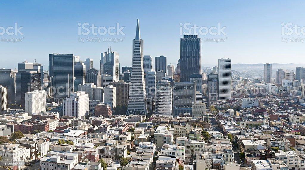 San Francisco Financial District downtown skyscrapers Transamerica Pyramid California cityscape stock photo