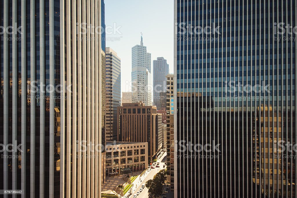 san francisco financial downtown corporate business buildings stock