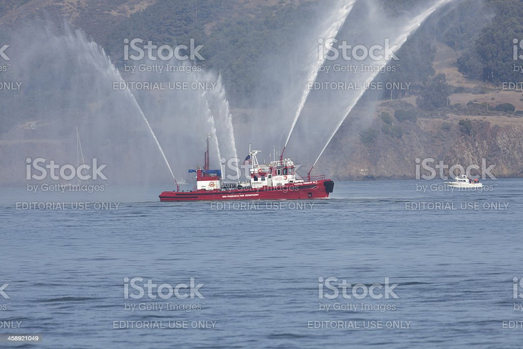 San Francisco Fire Department Boat stock photo
