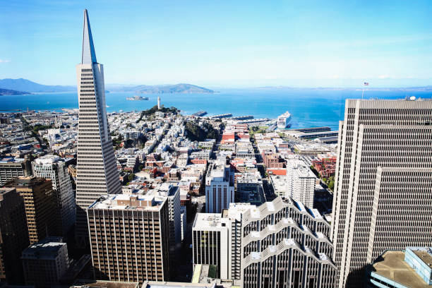 San Francisco from Above A view of San Francisco from the 46th floor jude beck stock pictures, royalty-free photos & images