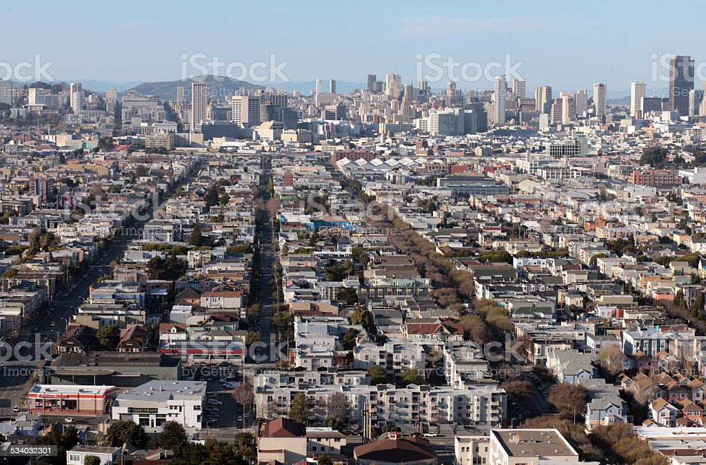 San Francisco from above stock photo