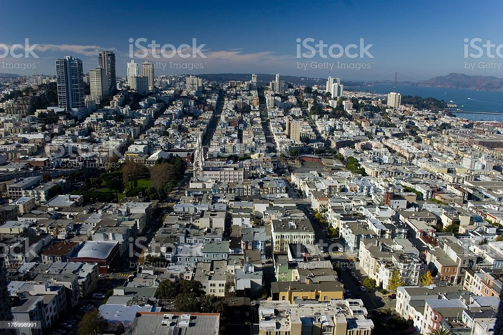San Francisco from Coit Tower royalty-free stock photo