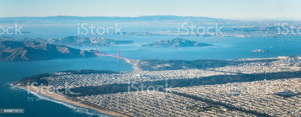 San Francisco from the above stock photo