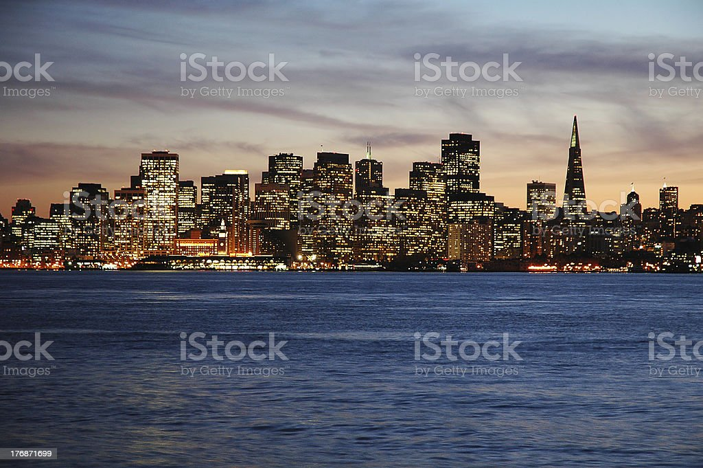 San Francisco from Treasure Island royalty-free stock photo