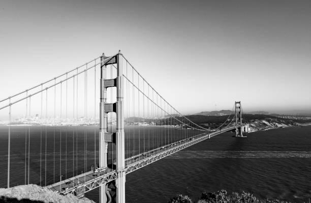 San Francisco Golden Gate Brücke im späten Nachmittag Licht – Foto