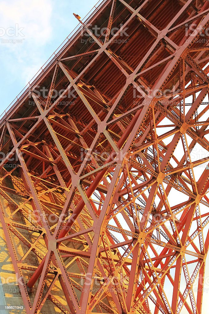 San Francisco: Golden Gate Bridge royalty-free stock photo