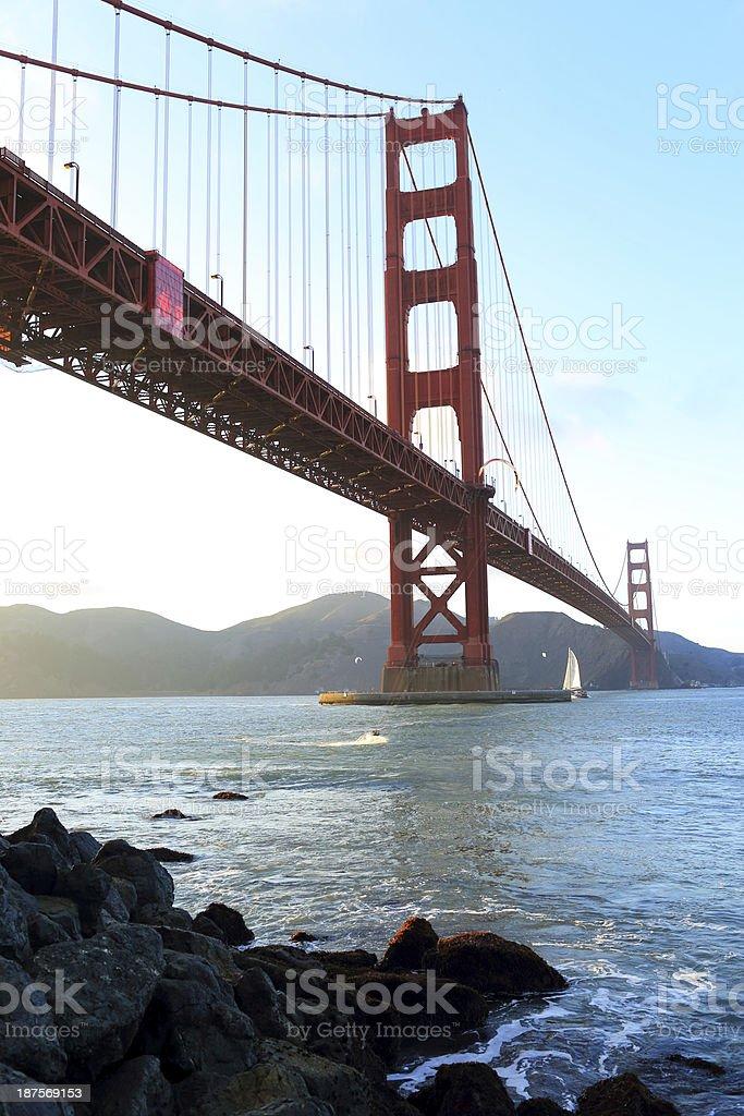 San Francisco: Golden Gate Bridge royalty-free stock photo