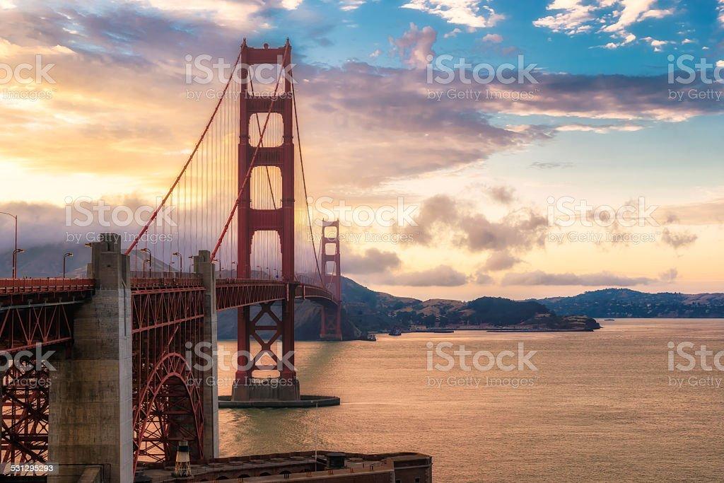 San Francisco, Golden Gate bridge. stock photo