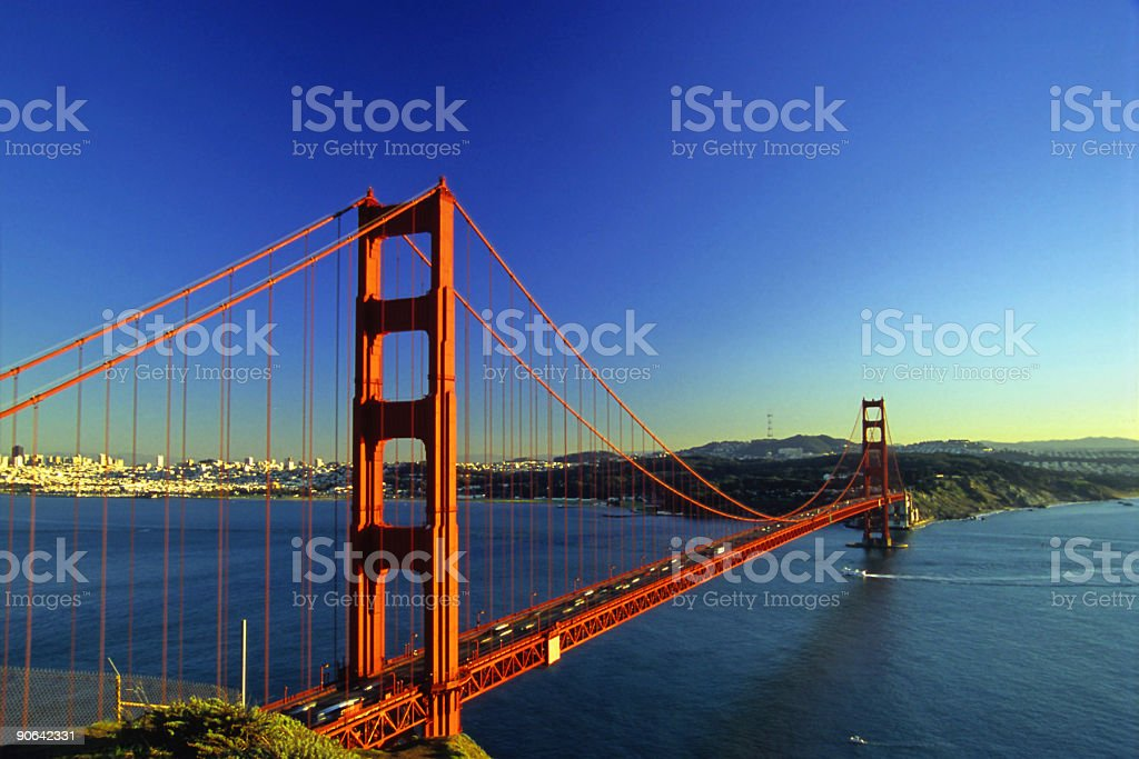 san francisco golden gate bridge sunset royalty-free stock photo