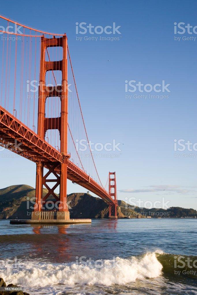 San Francisco: Golden Gate Sunrise royalty-free stock photo