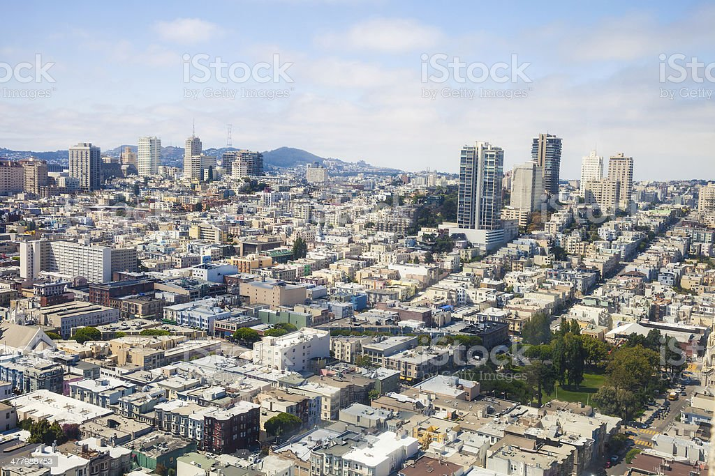 San Francisco hills and little Italy royalty-free stock photo