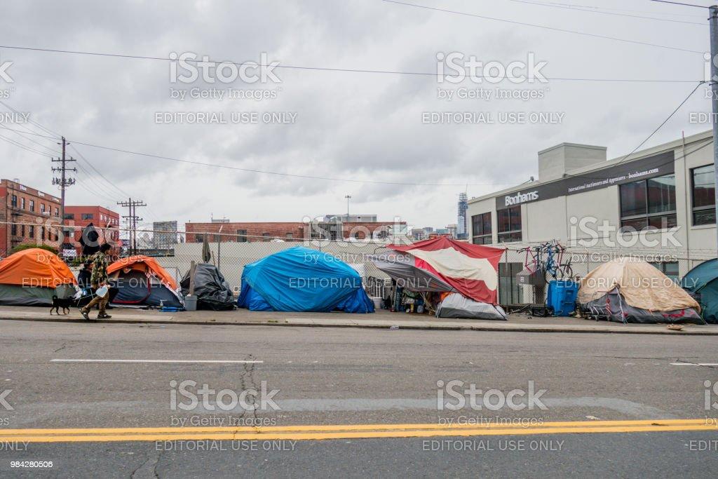 San Francisco Obdachlose Camps - Lizenzfrei Armut Stock-Foto